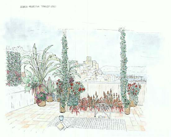 prospettiva terrazzo lerici