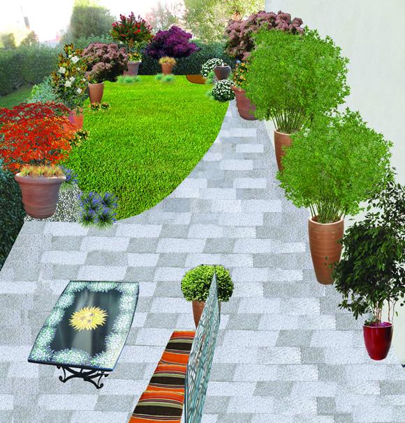 Un giardino con i colori del sole progettare giardini for Giardini in villette